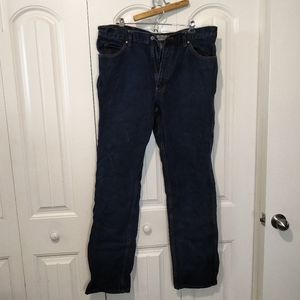40x38 mid wash straight leg jeans